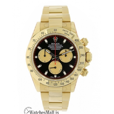 Rolex Replica Cosmograph Daytona Yellow Gold Paul Newman Black Dial 40MM Watch 116528