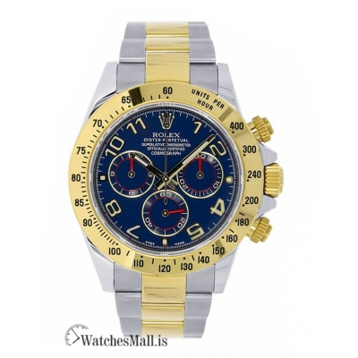Rolex Replica Cosmograph DaytonaTwo-Tone Stainless Steel Blue Dial 40MM Watch 116523