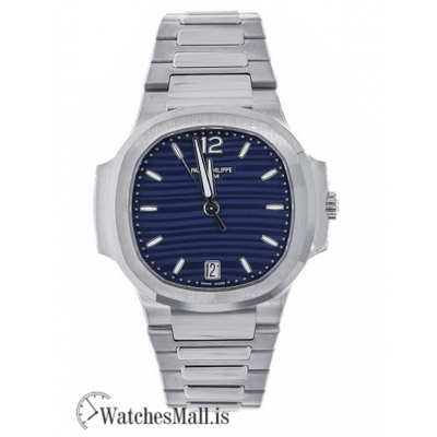 Patek Philippe Replica Nautilus Stainless Steel Blue Dial 35MM Watch 71181A001