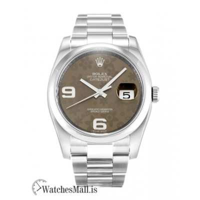 Rolex Datejust Replica Floral Arabic Dial Automatic  116200 36MM