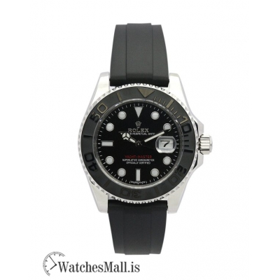 ROLEX YACHT MASTER 169622 Automatic Black & Steel 35 MM